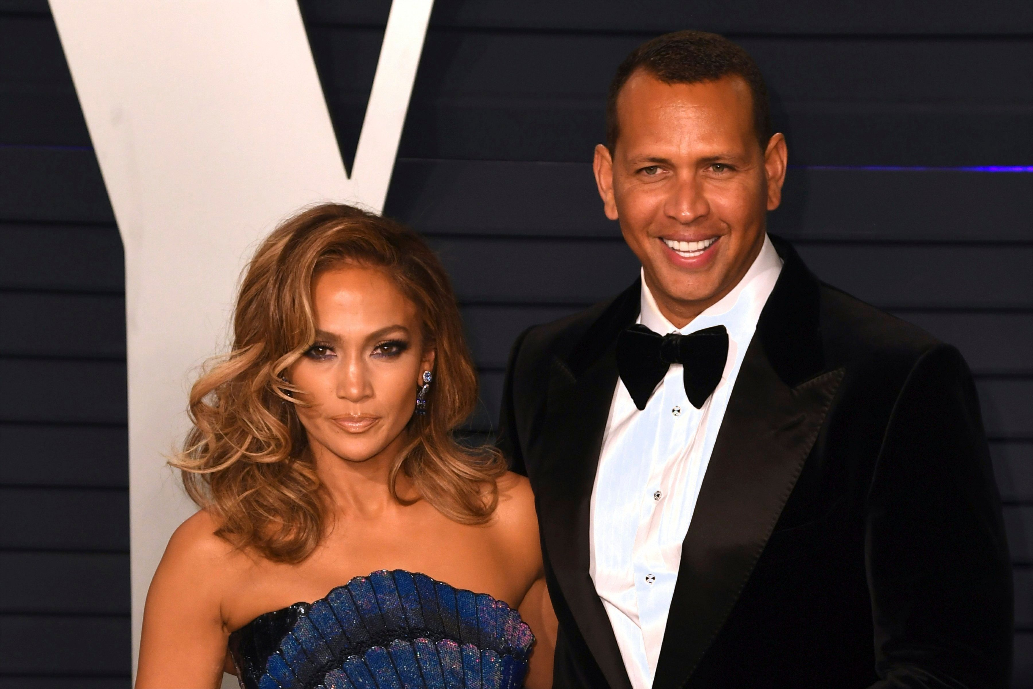 LOS ANGELES, CA - FEBRUARY 24: Jennifer Lopez and Alex Rodriguez at the Vanity Fair Oscar Party on February 24, 2019 in Los Angeles, California. Photo: imageSPACE /MediaPunch /IPX