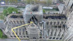 Las sobrecogedoras imágenes aéreas de Notre Dame tras el