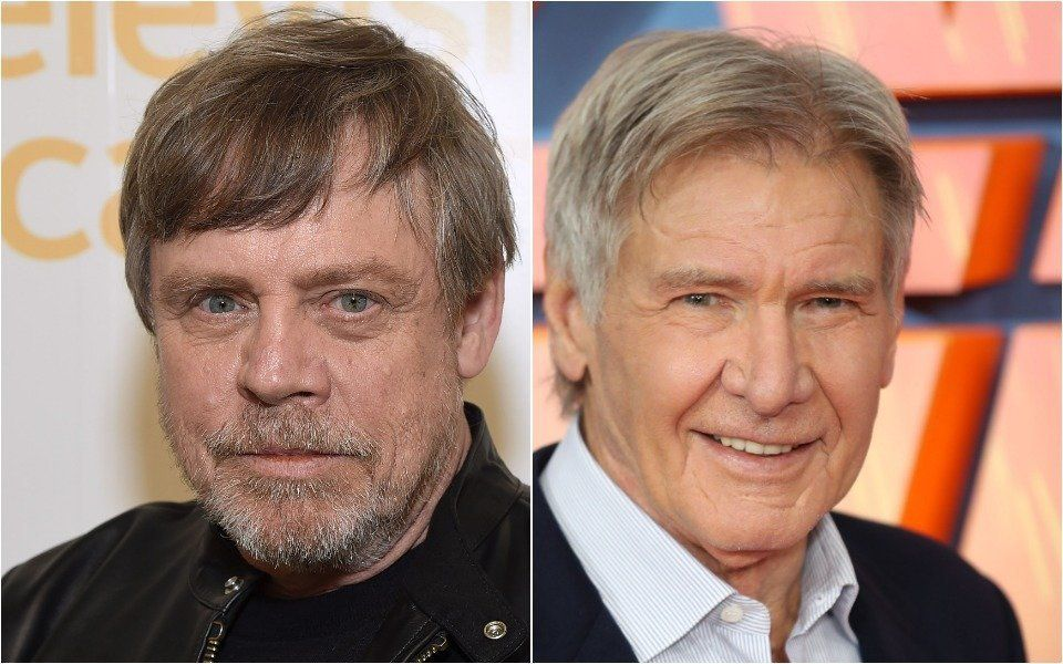 Mark Hamill and Harrison Ford