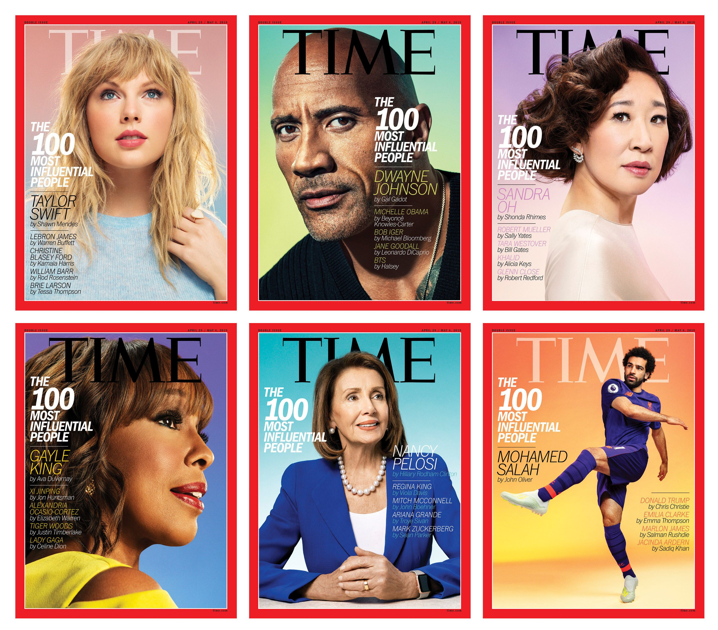 Time Magazine's top 100 influential people of 2019