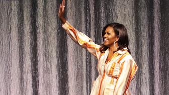 PARIS, FRANCE - APRIL 16: Michelle Obama attends 'An Intimate conversation with Michelle Obama' at Hotel Accor Arena Bercy on April 16, 2019 in Paris, France. (Photo by Vittorio Zunino Celotto/Getty Images for Kering)