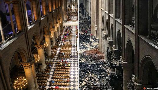 El antes y después de Notre Dame: desliza para ver cómo ha cambiado la catedral de