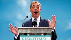 Percée spectaculaire du parti du Brexit de Nigel Farage au