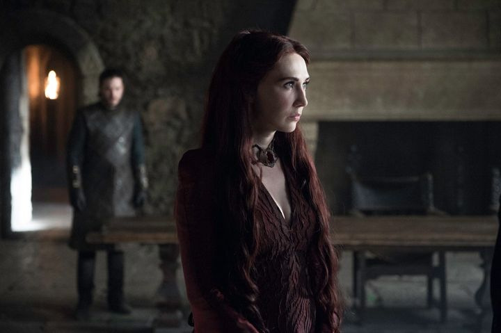 Melisandre and Jon Snow in Season 7.