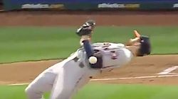 Pitcher's 'Matrix' Move Saves Him, And Twitter Users Call Out His
