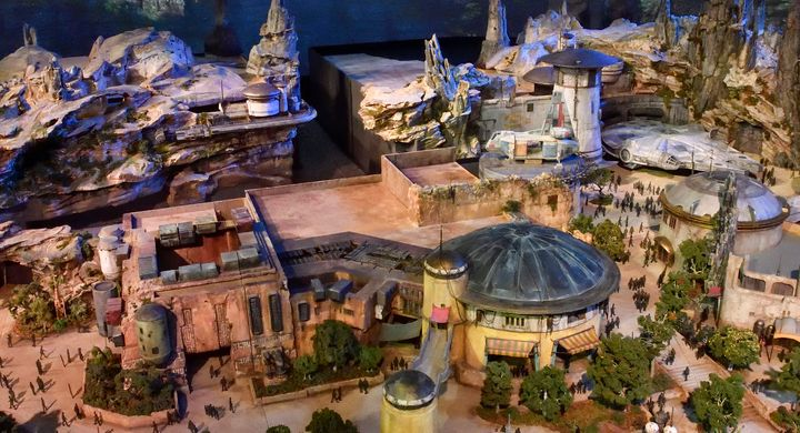 This model of Star Wars: Galaxy's Edge from 2017 was one of the first looks at the highly anticipated Disney area.