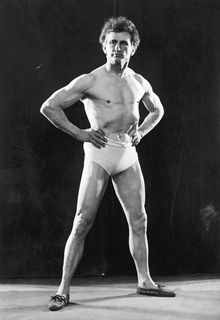 "Bernarr Macfadden, 55 years old in this photo, was called ""The Father of Physical Culture"" and is often credited with inaugurating the physical culture movement. He's responsible for the milk diet detailed below."