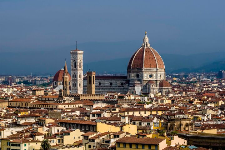 The stunning architecture throughout Europe, like in this view of Florence, Italy, attracts millions of tourists every year.