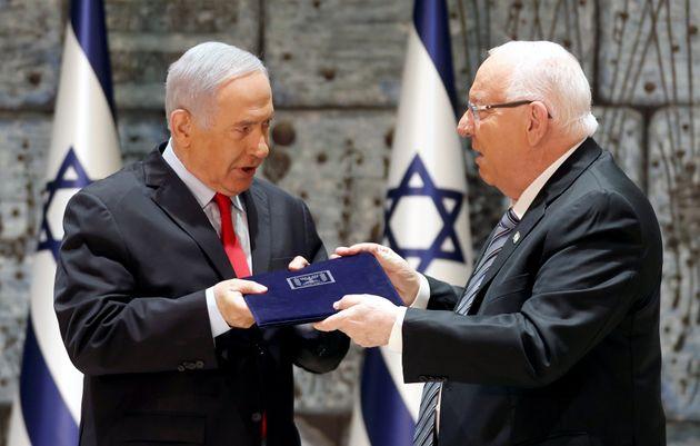 Benjamin Netanyahu et le président israélien Reuven Rivlin ce 17