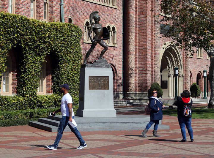 The campus of the University of Southern California in Los Angeles.