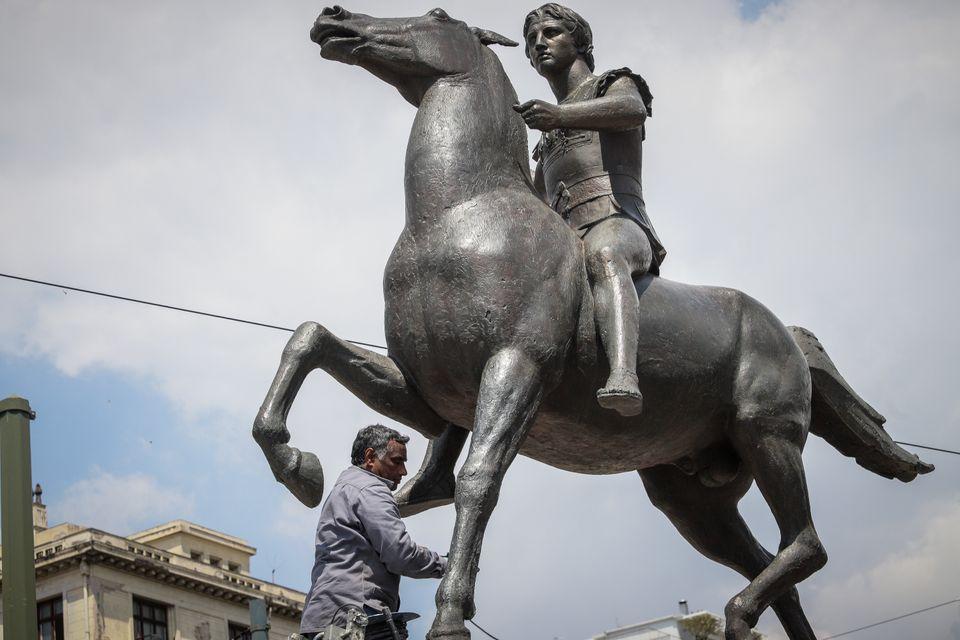 Η ιστορία του έφιππου Μεγάλου Αλεξάνδρου που ήρθε στη συμβολή Βασιλίσσης Ολγας και