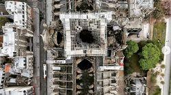 De nouvelles images de Notre-Dame prises par drone montrent les ravages du