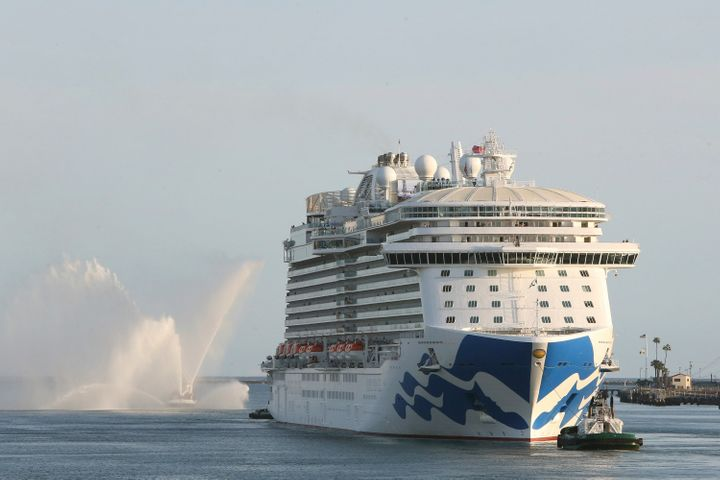 Royal Princess,Princess Cruis Lines' newest and largest West Coast-based ship, off Los Angeles in March.