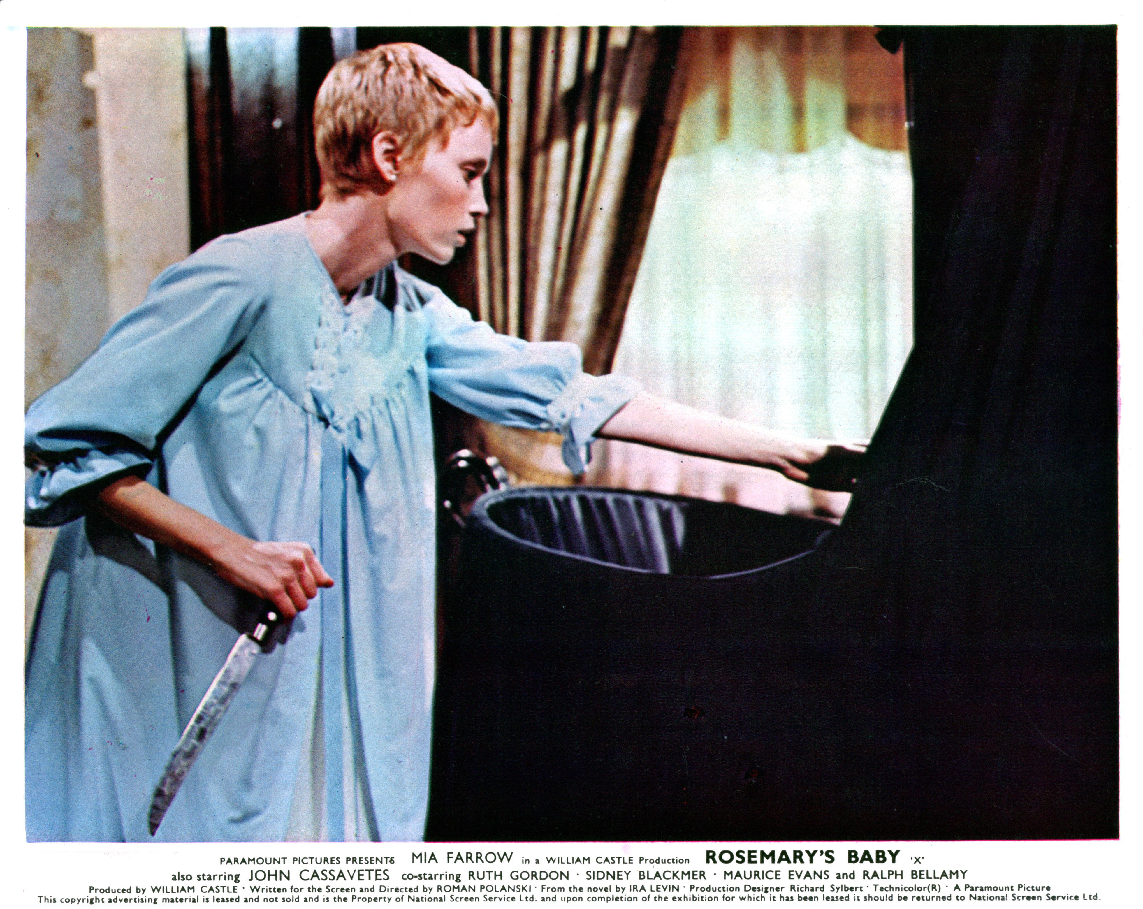 "Mia Farrow in ""Rosemary's Baby,"" released in 1968."