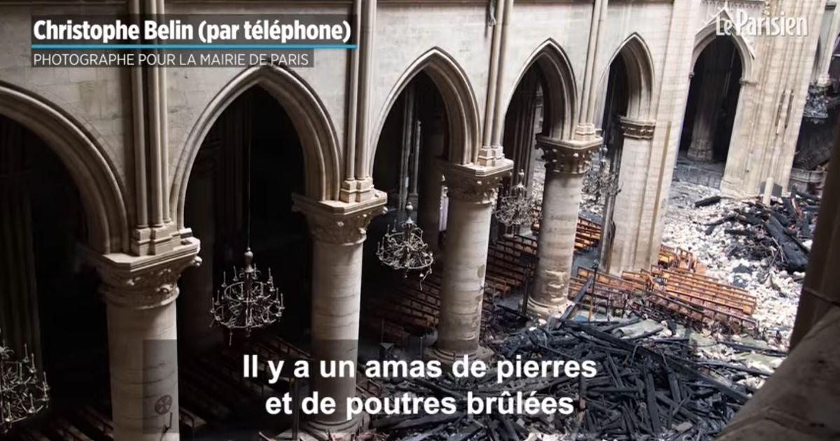 Un photographe de la mairie de Paris commente ses photos inédites de l'intérieur de Notre-Dame