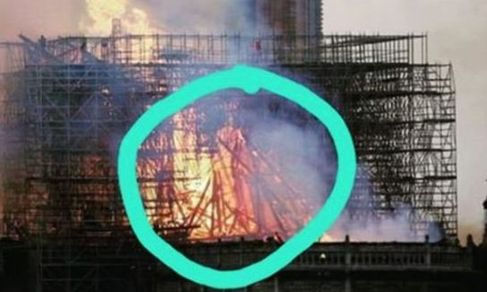 노트르담 대성당 화재 불길에서 예수를 보았다는 사람들이