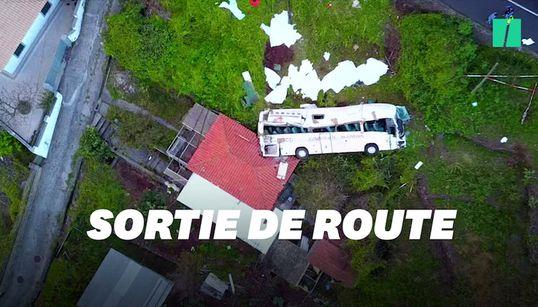 Les images de l'accident de bus à Madère filmées par un