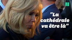 Brigitte Macron très émue à la messe de Saint-Sulpice pour