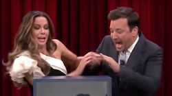 Kate Beckinsale And Jimmy Fallon Scare Themselves Witless With Mystery Box