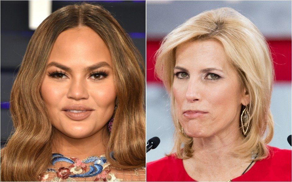 Chrissy Teigen and Laura Ingraham