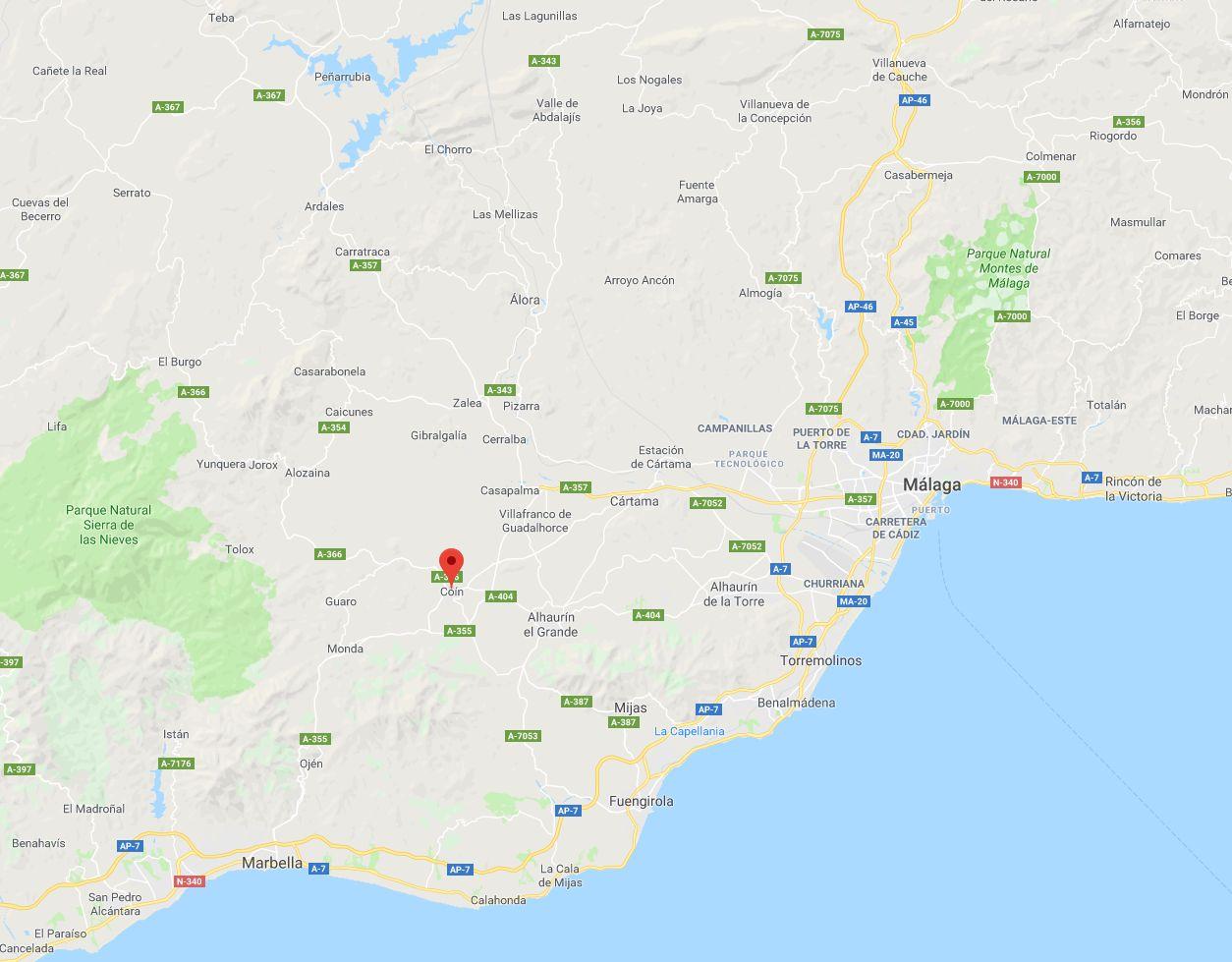 Muere un niño de 11 años por el disparo de una escopeta en Coín