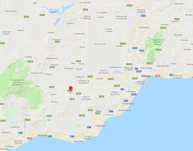Mapa de localización de Coín,