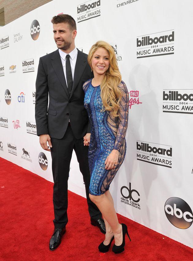 Shakira y Piqué, en los premios Billboard en