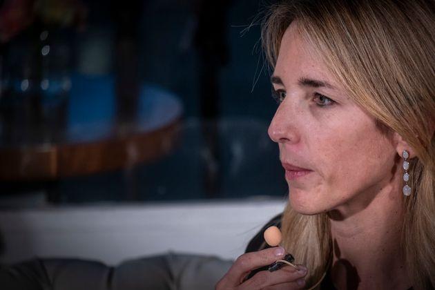 Cayetana Álvarez de Toledo, el pasado 8 de abril en Barcelona, en un acto conAlbert