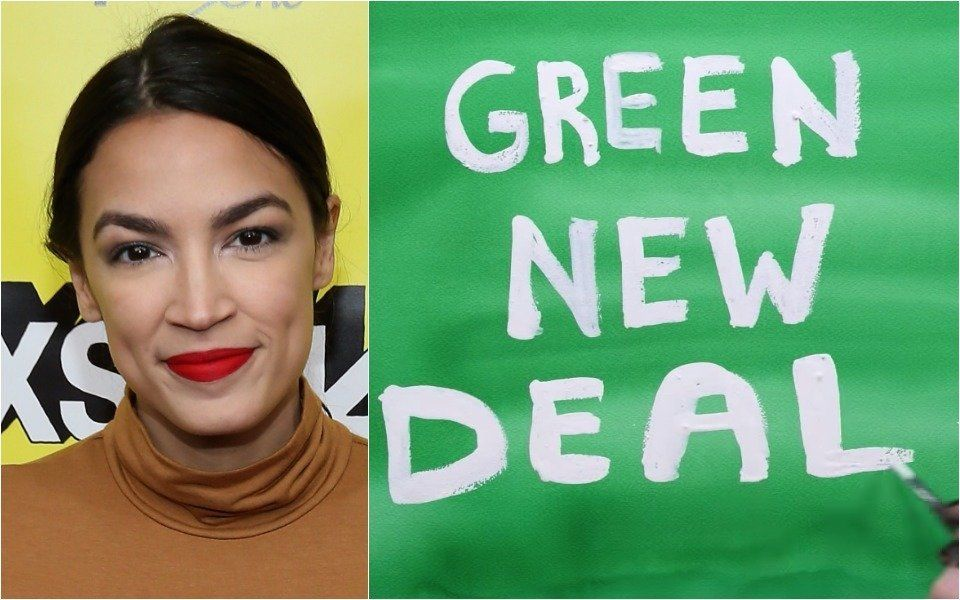 AOC and Green New Deal animation