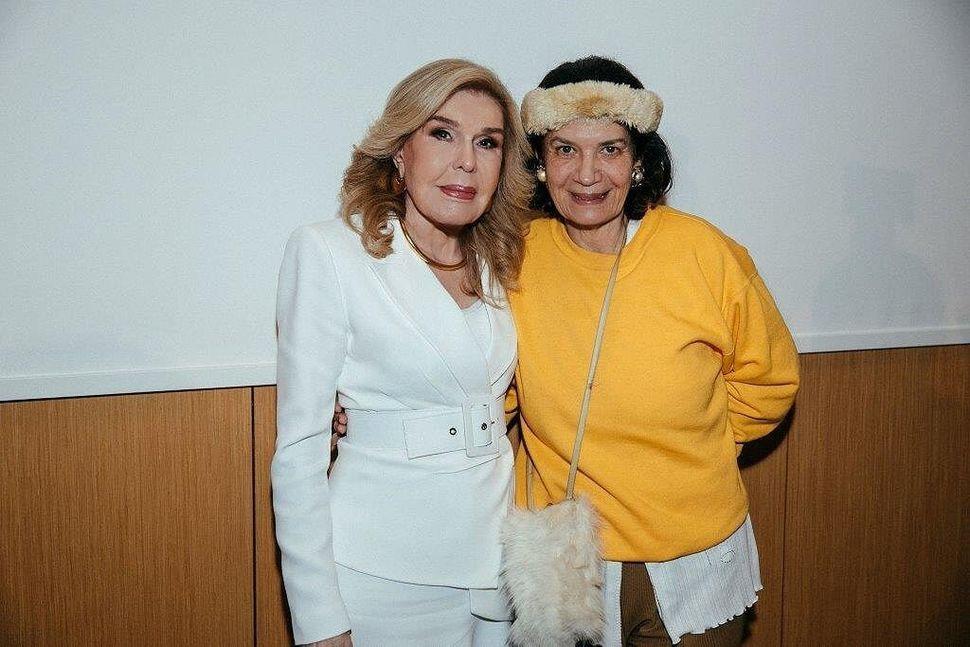 Η κα. Μ. Βαρδινογιάννη μαζί με την κα. Λ.Παγώνη