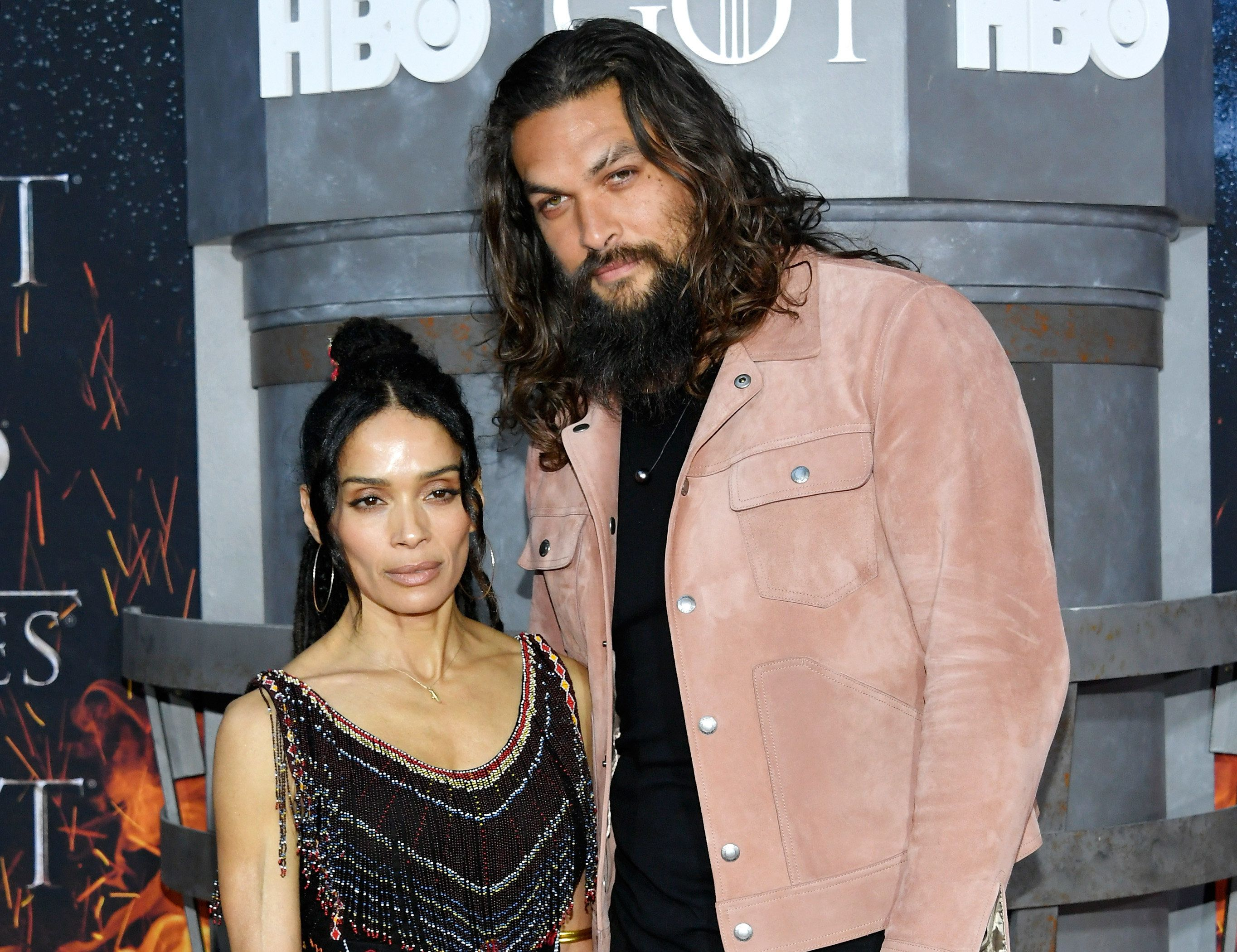 NEW YORK, NY - APRIL 03:  Lisa Bonet and Jason Momoa attend the 'Game Of Thrones' season 8 premiere on April 3, 2019 in New York City.  (Photo by Mike Coppola/FilmMagic)