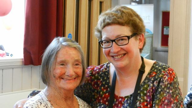 Daphne Franks with her mum Joan Blass at her 90th birthday