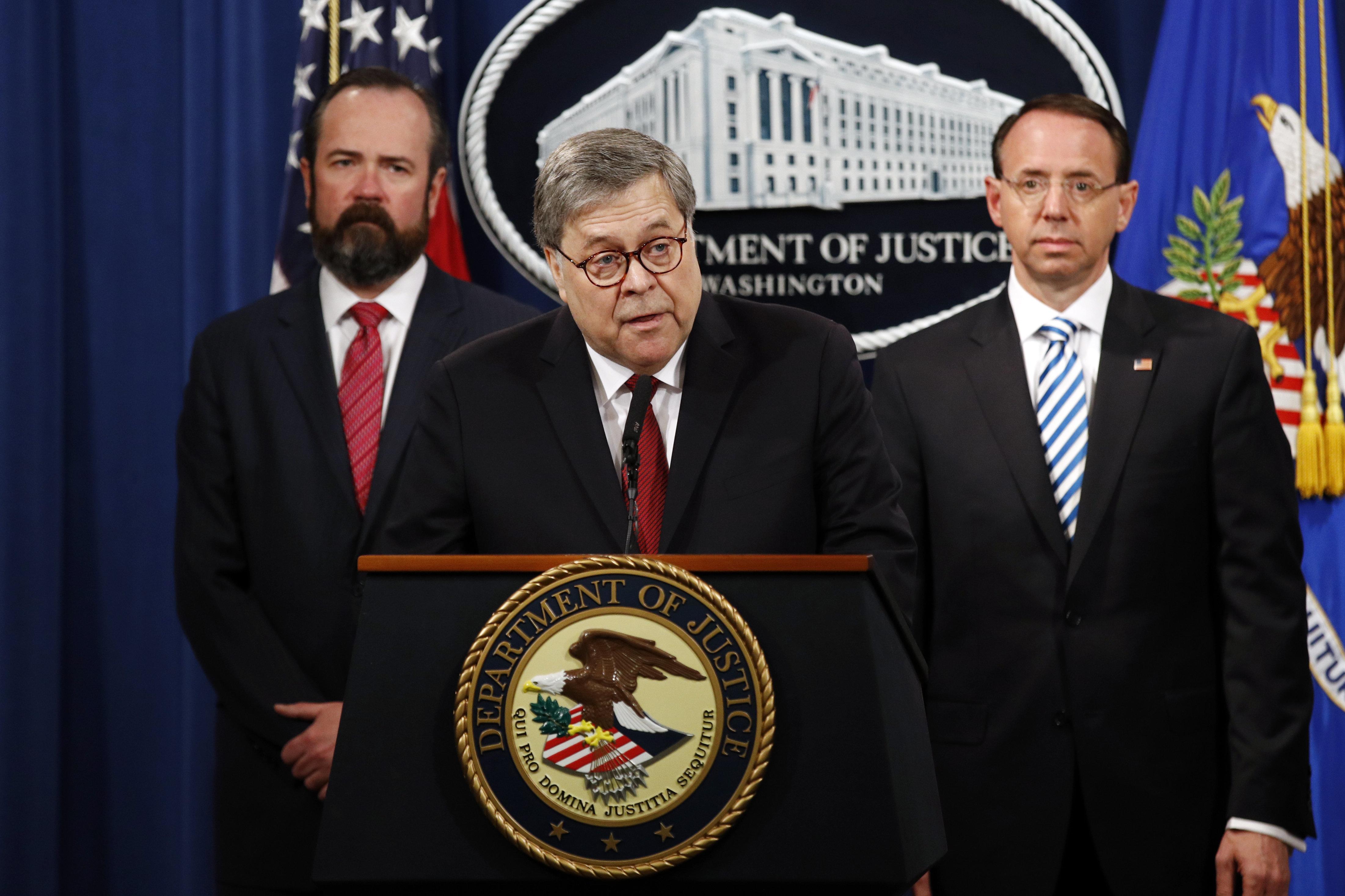 U.S. Attorney General Defends Trump Before Mueller Report's