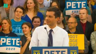 Pete Buttigieg takes on anti-gay heckler at rally