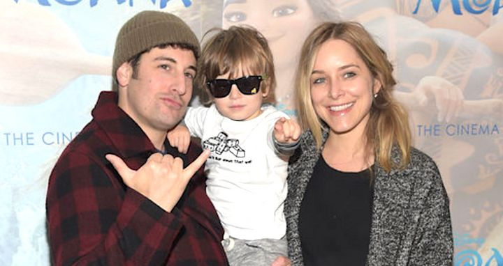 Jenny Mollen, pictured with Jason Biggs and Sid in 2016, said their son is now eating ice cream cones and recovering at home.
