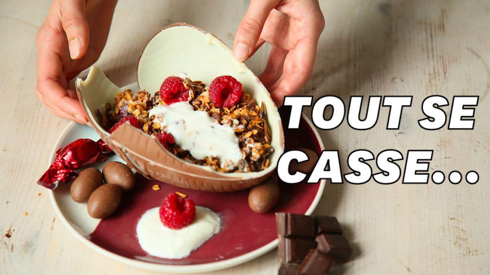 Pour Pâques, on a testé la recette d'un bowl en chocolat et c'est