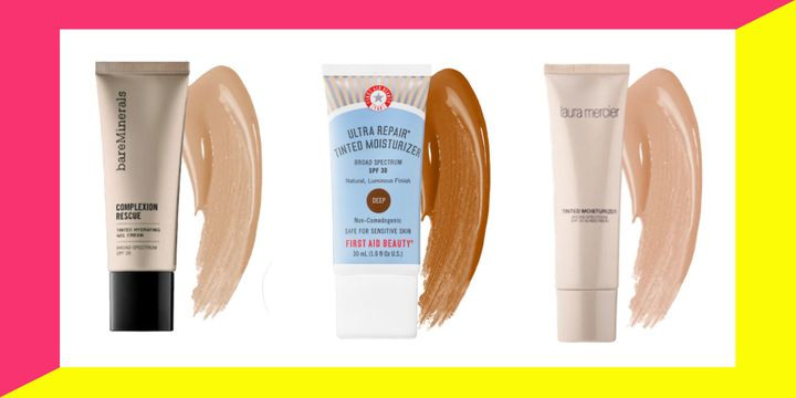 """An SPF tinted moisturizer might be the solution to your <a href=""""https://www.huffpost.com/entry/summer-skin-care_n_59380fd4e4b0ce1e740998cd"""" target=""""_blank"""" rel=""""noopener noreferrer"""">summer skin</a>."""