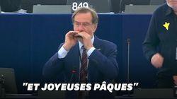 Reconnaissez-vous cette mélodie jouée à l'harmonica par un eurodéputé