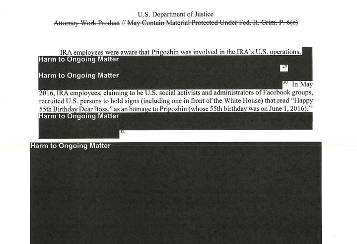 Le rapport Mueller et ses blocs noirs ont inspiré les