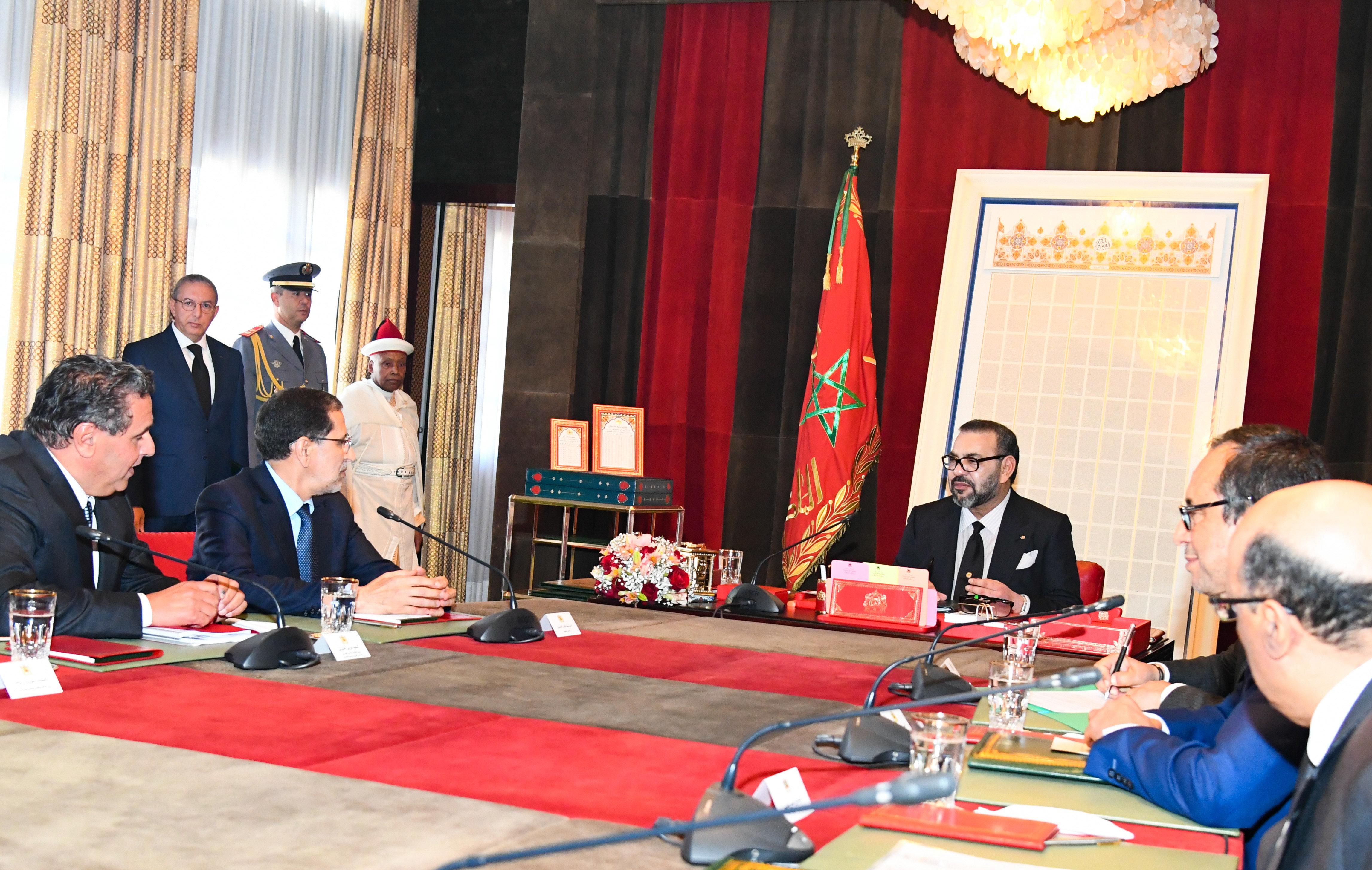 Le roi appelle le gouvernement à finaliser le programme prioritaire national relatif à