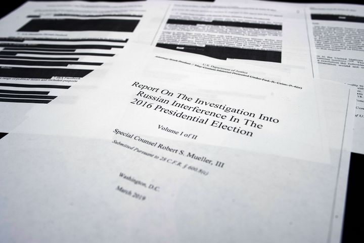 """Special counsel Robert Mueller's """"Report On The Investigation Into Russian Interference In The 2016 Presidential Election"""" di"""