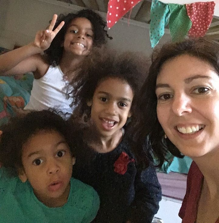 Fariba Soetan with her three daughters