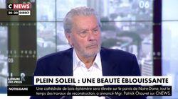 """Alain Delon remercie Pascal Praud de l'avoir soutenu en pleine polémique sur la """"race"""