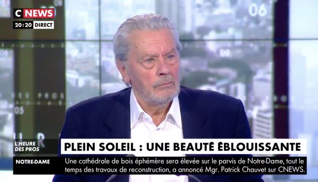 Alain Delon remercie Pascal Praud de l'avoir