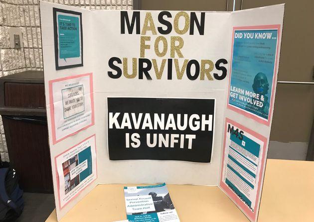 Mason for Survivors, a studentgroup that advocates for sexual assault survivors, set up a table...