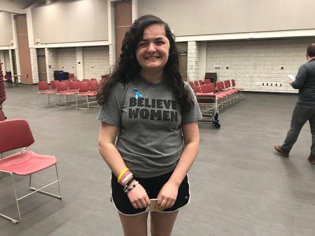 Sarah Fishkind, 17, said George Mason University's decision to hire Brett Kavanaugh is factoring