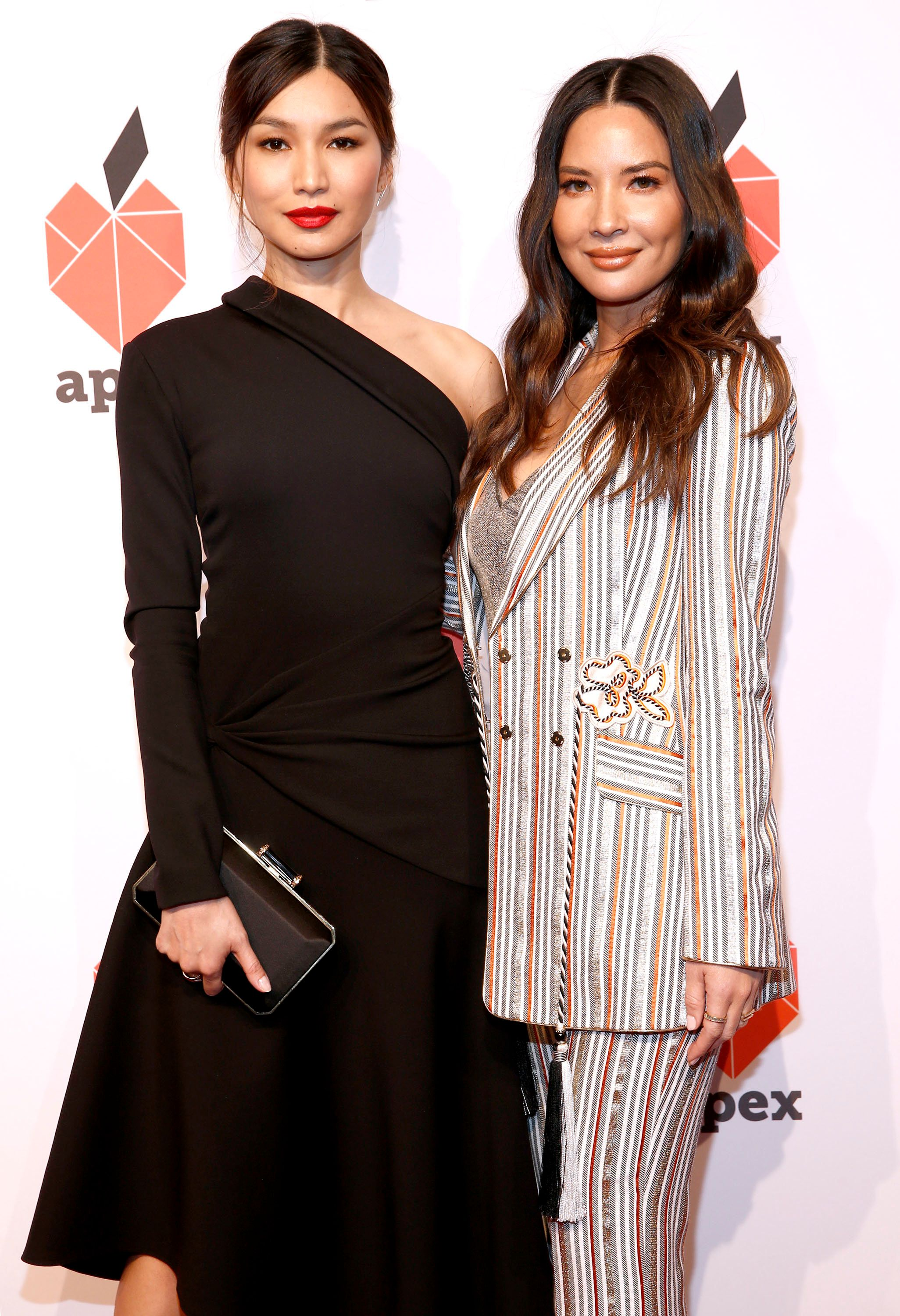 NEW YORK, NEW YORK - APRIL 17:   Gemma Chan and Olivia Munn attend the 27th Anniversary Inspiration Awards Gala at Cipriani Wall Street on April 17, 2019 in New York City. (Photo by Brian Ach/Getty Images  for APEX for Youth)