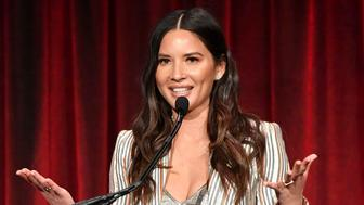 NEW YORK, NEW YORK - APRIL 17:   Olivia Munn speaks onstage at the 27th Anniversary Inspiration Awards Gala at Cipriani Wall Street on April 17, 2019 in New York City. (Photo by Mike Coppola/Getty Images  for APEX for Youth)