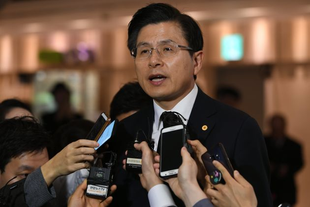 자유한국당 황교안 대표가 광주민주화운동 기념식에