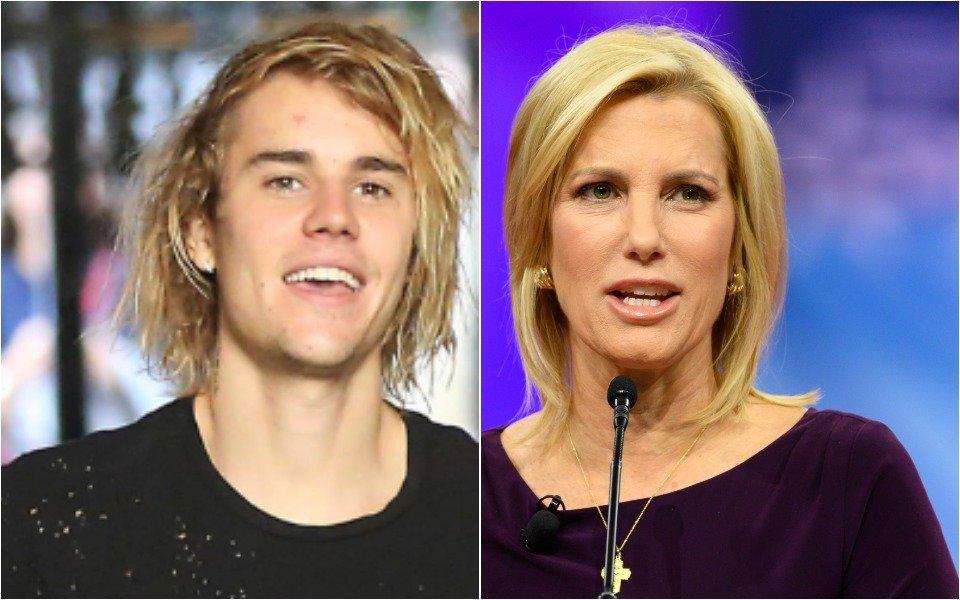Justin Bieber and Laura Ingraham